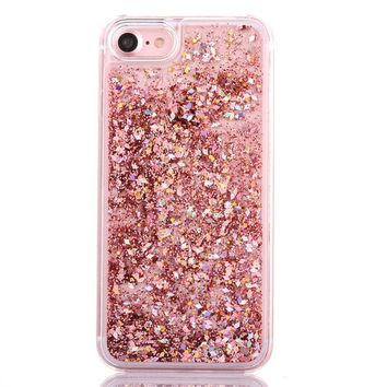 Rose Gold Cascading Glitter Case for iPhone