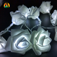 Events and Parties 2M 20LED Rose LED String Lights Battery Wedding Birthday Decoration Lightings Rose LED Guirlande Lumineuse