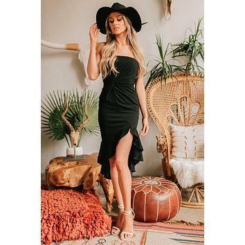 Never Know Why Strapless Dress (Black)
