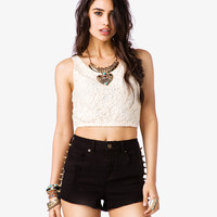 Whimsical Lace Crop Top