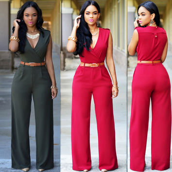 Women's Fashion Slim Casual Jumpsuit [4918512516]