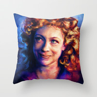 River Song Throw Pillow by Alice X. Zhang