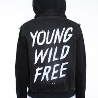 Glamour Kills Clothing - Girls Young Wild and Free Outlaw Denim Jacket