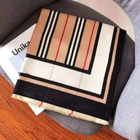 BURBERRY Hot Sale Classic Men Women Stripe Cashmere Scarf Scarves Shawl