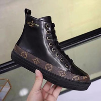 LV Louis Vuitton Old Skool Women Casual Fashion High-Top Flats Shoes