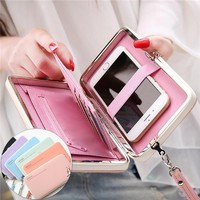 Women Wallets Brand Design High Quality PU Leather Wallet Female Hasp Fashion Long Women Wallets And Purses Cellphone Pocket
