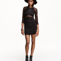 H&M Dress in Lace and Mesh $29.99