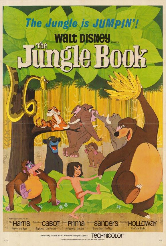 Image of The Jungle Book 11x17 Movie Poster (1967)
