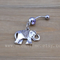 Elephant Belly Button Rings,Navel Jewlery,lucky belly ring,summer jewelry
