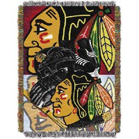 """Chicago Blackhawks NHL Woven Tapestry Throw (Home Ice Advantage) (48""""x60"""")"""