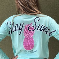 """Simply Southern """"Stay Sweet"""" Shorty - Teal"""
