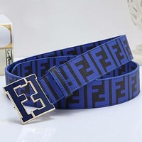 FENDI Woman Men Fashion Buckle Belt Leather Belt-3