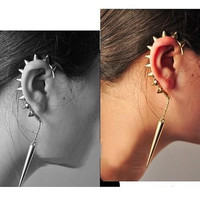 Single punk ear cuff rivet ear cuff without ear hole ear bones folder Stud Earrings ear clip trending gifts
