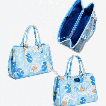 Licensed cool Loungefly Disney Finding Nemo Dory Ocean Fish Handbag Shoulder Bag Purse Tote