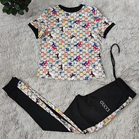 GUCCI GG Women With short sleeves Top trousers Two-Piece