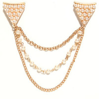 With Love From CA Pearl Detailed Collar Tips at PacSun.com