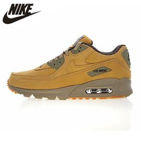 Nike Air Max 90 Winter PRM Men's and Women's Running Shoes, Yellow, Warm Shock Absorption  Impact Resistance Non-slip 683282 700