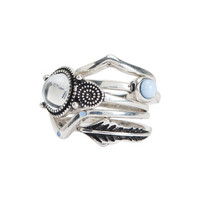 Chevron Feather Ring 5-Pack