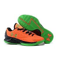 HCXX Men's Under Armor Curry 1 Low-Cup Basketball Shoes Orange 40-46