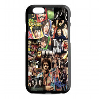 Classic Rock collage For iphone 6s case