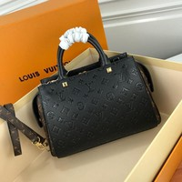 LV The original cowhide embossing appears to be more high-end and elegant.  . Leaning across one shoulder is fine.q