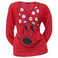 Minnie Mouse - Big Minnie Juniors Long Sleeve