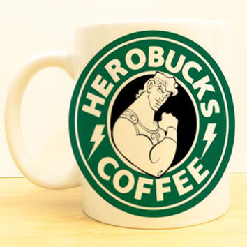 Herobucks Coffee Mug |  Hercules Starbucks |  Disney Princess