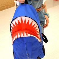 Blue shark backpack from shoponline4