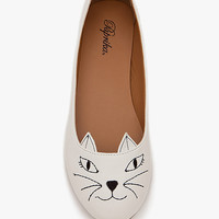 A'GACI Meow PU Kitten Face Slipper - FLATS
