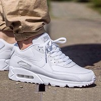 Nike Air Max pure white men's and women's flat sports running shoes
