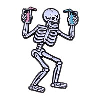 Party Skeleton Pin