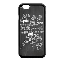 Hillsong United Oceans Lyric ChalkBoard iPhone 6 Case