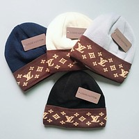 LV Louis Vuitton Winter Trending Women Men Stylish Warm Knit Hat Cap