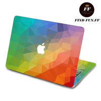 back cover keyboard decal mac pro decals stickers sticker Apple Mac laptop vinyl 3M surprise gift for her him beautiful 碎块3-070