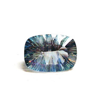 "Topaz, blue mystic topaz, cushion cut topaz, loose gemstone,  jewelry designing,  wire wrapping,  ""Blue Aviary"""