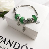Pandora heart-shaped hanging beads bracelet