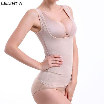 LELINTA Shapewear Top Seamless Comfort Firm Control for Women Wear Your Own Bra Shaping Tank Push Up Camisole Body Shaper