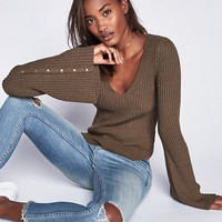 Free People Viola Double V Sweater