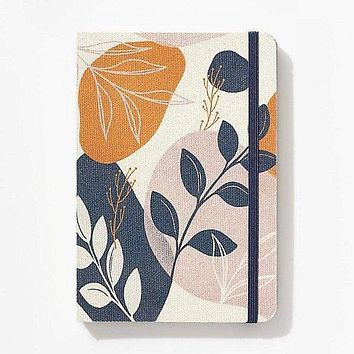 Floral Fabric Covered Notebook