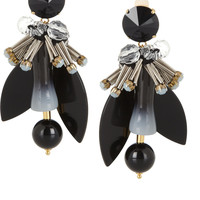 Marni - Gold-plated, crystal and horn clip earrings