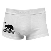 California Republic Design - Cali Bear Side Printed Mens Trunk Underwear by TooLoud