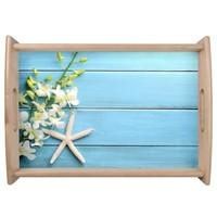 Beach Themed Gifts Serving Trays Starfish Natural