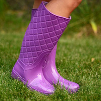 Dancing in the Rain Boots - Orchid
