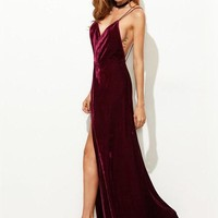Velvet Criss Cross Back Dress