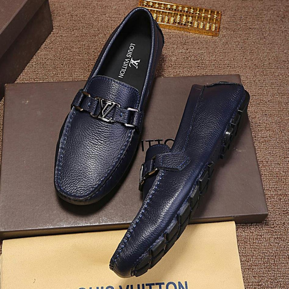 Image of LV Louis Vuitton Man or Woman Fashion Casual Shoes Leather Shoes