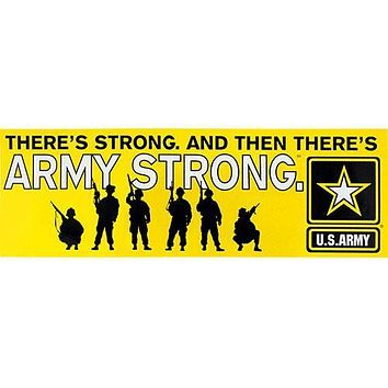 Army Strong Yellow Bumper Sticker