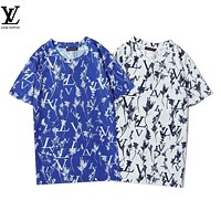 Louis Vuitton LV letter L print new round neck short sleeve cotton loose T-shirt