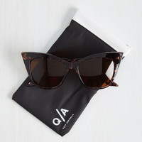 Modern Love Sunglasses in Tortoiseshell by Quay from ModCloth