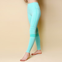 Women's Yoga Pants Running Pants Tights Quick-Dry stretch stripe Trousers Fitnness gym leggings Yoga Sport capris lulu yoga