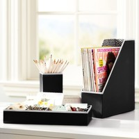Preppy Paper Desk Accessories - Solid Black